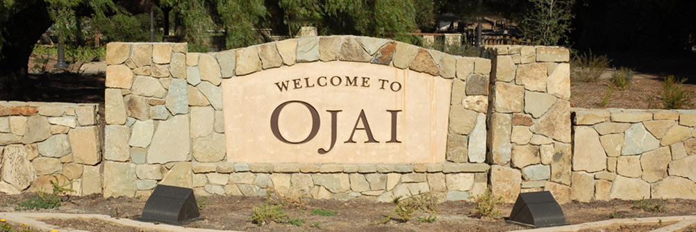 Welcome to Ojai, California Sign