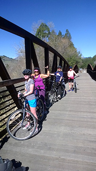 Ojai Valley Bike Trail down to Ventura State Beach